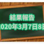 競馬結果報告【20年3月7日8日】