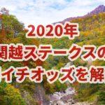 関越ステークス【2020年】の朝イチオッズから結果考察!!